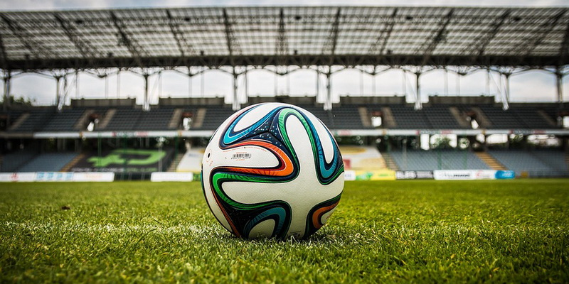 Colored ball on the field