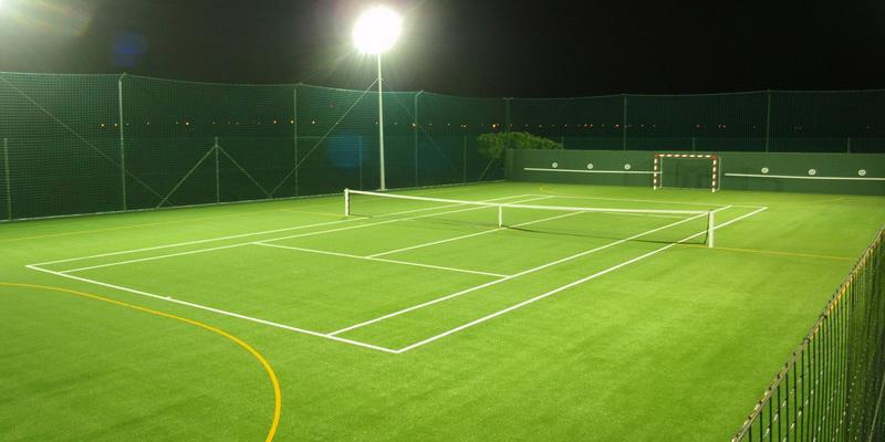 Huge football tennis court
